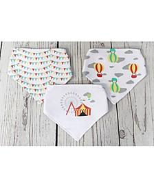3 Stories Trading Infant 3 Pack Bandana Bibs, Circus