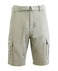 Blue Rock Men's Cotton Belted Cargo Shorts