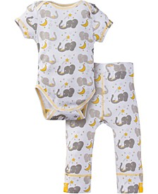 Boys and Girls Short Sleeve Bodysuit and Pant Outfit