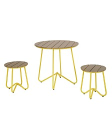 Novogratz Poolside Collection Bobbi 3 Piece Outdoor Bistro Set