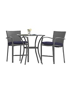 Outdoor Living Lakewood Ranch 3-Piece Bistro Set With Cushions