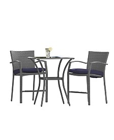 Cosco Outdoor Living Lakewood Ranch 3-Piece Bistro Set With Cushions