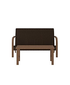 Outdoor Living Smartwick 2-Piece Loveseat and Coffee Table Set