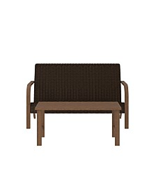 Cosco Outdoor Living Smartwick 2-Piece Loveseat and Coffee Table Set