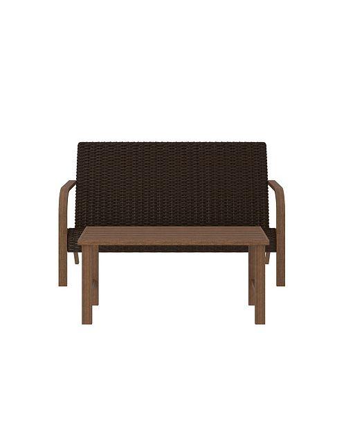 Tremendous Outdoor Living Smartwick 2 Piece Loveseat And Coffee Table Set Evergreenethics Interior Chair Design Evergreenethicsorg