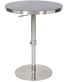 Koco Wood Laminate Adjustable Swivel Round Pub Table