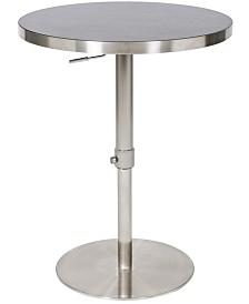 MIX Koco Wood Laminate Adjustable Swivel Round Pub Table