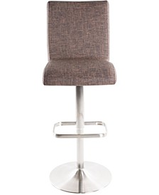 Fogo Faux Fabric Adjustable Swivel Barstool
