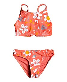 Roxy Little Girl Fruity Shake Crop Top Two Piece Set