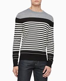 Calvin Klein Men's Merino Colorblock Stripe Sweater