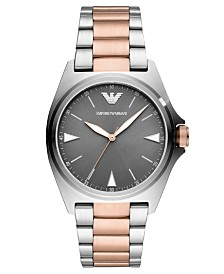 Emporio Armani Men's Two-Tone Stainless Steel Bracelet Watch 40mm