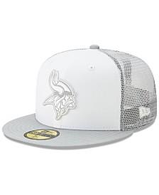 New Era Minnesota Vikings White Cloud Meshback 59FIFTY Cap