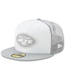 New Era New York Jets White Cloud Meshback 59FIFTY Cap