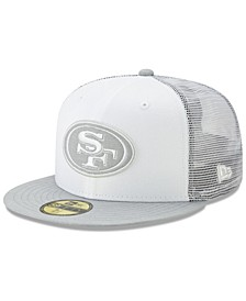 San Francisco 49ers White Cloud Meshback 59FIFTY Cap