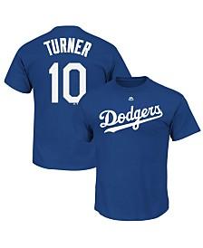 Majestic Men's Justin Turner Los Angeles Dodgers Official Player T-Shirt