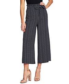 Dot-Striped Ankle Pants