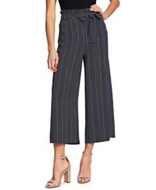 CeCe Dot-Striped Ankle Pants