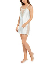 Stella Lace-Trim Chemise Nightgown