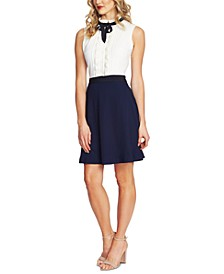 Ruffled Contrast-Skirt Dress