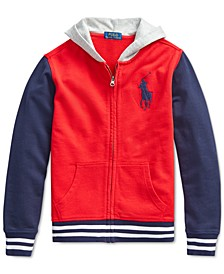 Big Boys Big Pony Cotton French Terry Hoodie, Created For Macy's