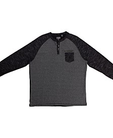 PX Clothing Big and Tall Long Sleeve Henley Tee