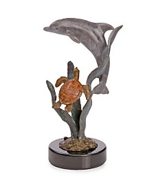 SPI Home Dolphin and Turtle Sculpture