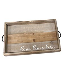 Stratton Home Decor Love Lives Here Wood Tray
