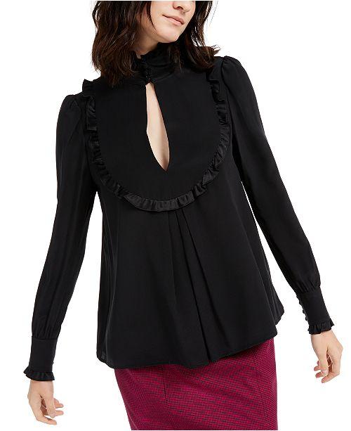 Nanette Lepore Ruffled Silk Blouse