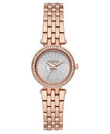 Michael Kors Women's Petite Darci Rose Gold-Tone Stainless Steel Bracelet Watch 26mm
