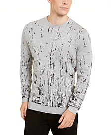 Men's Paint Splatter Crewneck Sweater, Created for Macy's