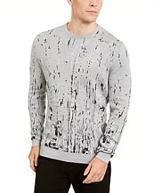 Men's Paint Splatter Crewneck Sweater, Created for Macy's