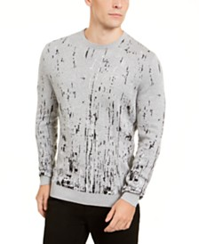 Alfani Men's Paint Splatter Crewneck Sweater, Created for Macy's