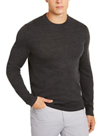 Alfani Men's Solid Crewneck Sweater, Created for Macy's