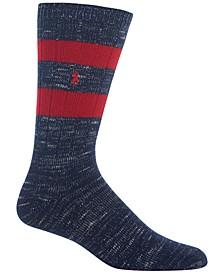 Men's Big & Tall Marled Stripe Boot Socks
