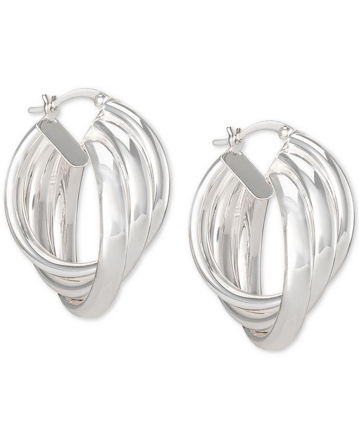 Macy's - Triple Oval Hoop Earrings in Sterling Silver
