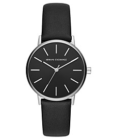Women's Lola Black Leather Strap Watch 36mm