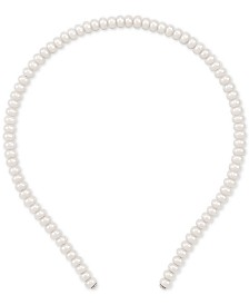 Cultured Freshwater Pearl (6 - 7 mm) Headband in Sterling Silver