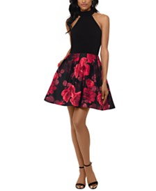 Betsy & Adam Floral-Skirt Dress