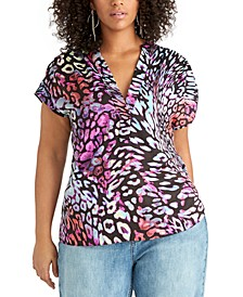 Trendy Plus Size Odelia Printed Top