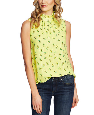 Floral Print Mock Neck Top by General