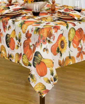 "Grateful Season Fall Printed Tablecloth, 52""x52"""