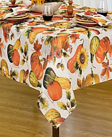 "Grateful Season Fall Printed Tablecloth, 52""x52"""