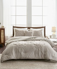 Giselle Full/Queen 4-Pc. Tufted Seersucker Comforter Set
