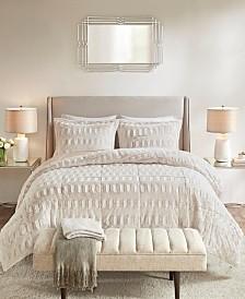 Madison Park Gia Back Print Long Fur Comforter Mini Set