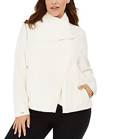 Plus Size Asymmetrical-Front Jacket