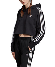 adidas Originals Women's Adicolor Cotton Cropped Hoodie