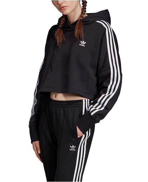 adidas Women's Adicolor Cotton Cropped Hoodie