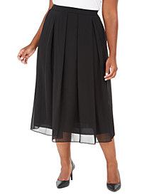 Anne Klein Plus Size Pleated Midi Skirt