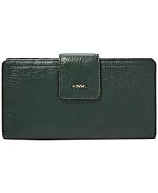 Logan Leather Tab Clutch Wallet