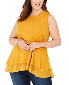 Plus Size Double-Hem Tank Top